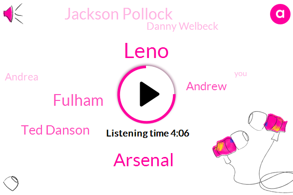 Arsenal,Leno,Fulham,Ted Danson,Andrew,Jackson Pollock,Danny Welbeck,Andrea,Vangere,Byron,Mike,Kelly,Forty Percent,Eleven Years,Two Percent