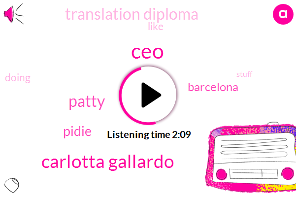CEO,Carlotta Gallardo,Patty,Pidie,Barcelona,Translation Diploma