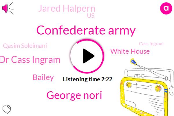 Confederate Army,George Nori,Dr Cass Ingram,Bailey,White House,Jared Halpern,United States,Qasim Soleimani,Cass Ingram,Iran,Jill Nato,FOX
