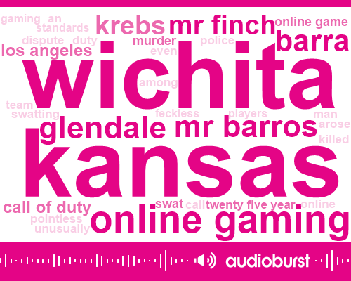 Kansas,Online Gaming,Glendale,Mr Barros,Wichita,Barra,Mr Finch,Krebs,Call Of Duty,Los Angeles,ABC,Online Game,Swat,Murder,Twenty Five Year