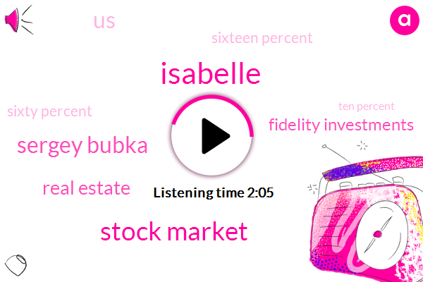 Isabelle,Stock Market,Sergey Bubka,Real Estate,Fidelity Investments,United States,Sixteen Percent,Sixty Percent,Ten Percent,16 Percent,Ten Years