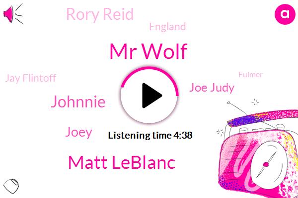 Mr Wolf,Matt Leblanc,Johnnie,Joey,Joe Judy,Rory Reid,England,Jay Flintoff,Fulmer,Paddy Mcguinness,John Johnny Micheals,Picard,Twenty Minutes