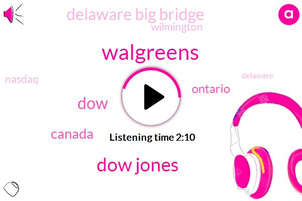 Walgreens,Dow Jones,DOW,Canada,Ontario,Delaware Big Bridge,Wilmington,Nasdaq,Delaware,Chris Carl Wpro,105 Nine Eight Three Nine One Five Nine Hands,Hundred Fifty Years,Eighty One Degrees,Twenty Six Percent,Three Quarters,Eight Percent,24Hour