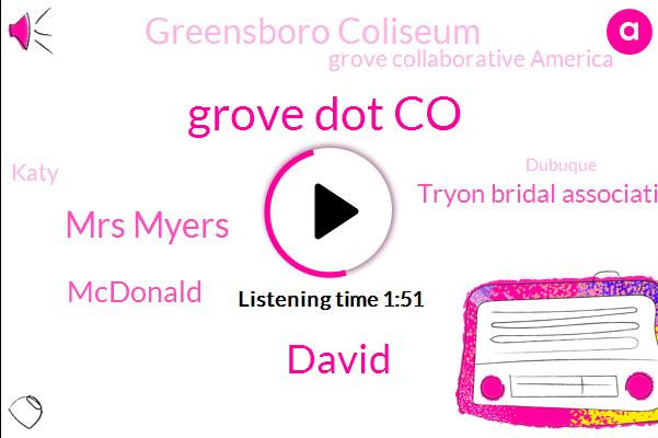 Grove Dot Co,David,Mrs Myers,Mcdonald,Tryon Bridal Association,Greensboro Coliseum,Grove Collaborative America,Katy,Dubuque,W. Casey L,Thirty Dollar,One Two Three Dollar,Twenty Dollars,Ten Dollars,Two Dollars
