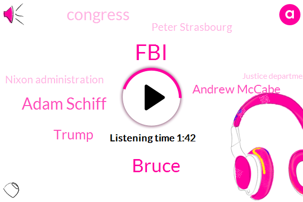 Bruce,FBI,Adam Schiff,Donald Trump,Andrew Mccabe,Congress,Peter Strasbourg,Nixon Administration,Justice Department,Carter,Director,Haldeman,Brazil,John Mitchell,White House,James,Lisa