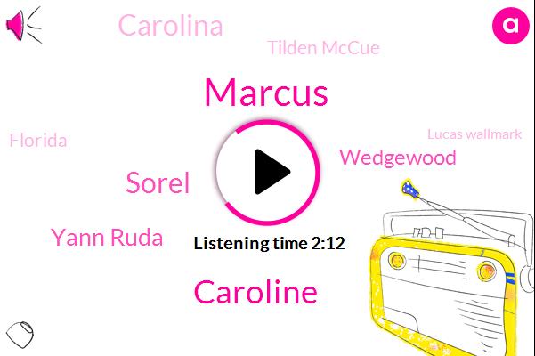 Marcus,Caroline,Sorel,Yann Ruda,Wedgewood,Carolina,Tilden Mccue,Florida,Lucas Wallmark,Wedgwood,Stamkos,Stevens.,Greece,Martin,Carolina.