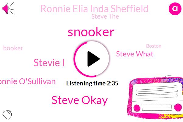 Snooker,Steve,Steve Okay,Stevie I,Ronnie O'sullivan,Steve What,Ronnie Elia Inda Sheffield,Steve The,Booker,Boston,Steven,Hockey,RAY,Sharon