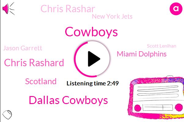 Cowboys,Dallas Cowboys,Chris Rashard,Miami Dolphins,Chris Rashar,Scotland,New York Jets,Jason Garrett,Scott Lenihan,Philadelphia Eagles,Defensive Coordinator,Los Angeles,Atlanta,NFL,Ian Rapoport,Two Weeks