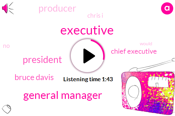 Executive,General Manager,President Trump,Bruce Davis,Chief Executive,Producer,Chris I