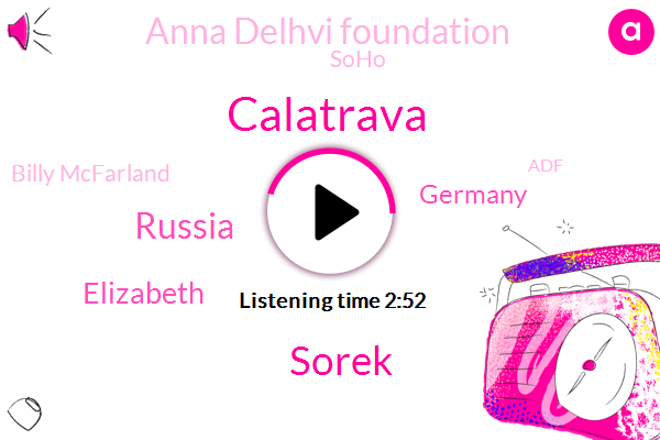 Calatrava,Sorek,Russia,Elizabeth,Germany,Anna Delhvi Foundation,Soho,Billy Mcfarland,ADF,Texas,New York,Newark,Sorkin