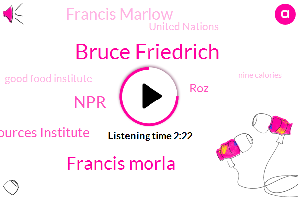 Bruce Friedrich,Francis Morla,NPR,World Resources Institute,ROZ,Francis Marlow,United Nations,Good Food Institute,Nine Calories,Five Percent,Fifty Years,One Calorie,Mill