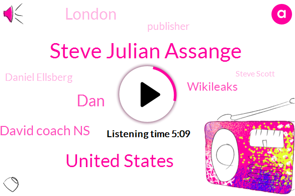 Steve Julian Assange,United States,DAN,David Coach Ns,Wikileaks,London,Publisher,Daniel Ellsberg,Steve Scott,Bloomberg,Tiger Woods,Founder,Pentagon,Bradley Manning,Attorney,Michael Wallis,New York,Chelsea Manning,Wcbs,Ecuadoran Government