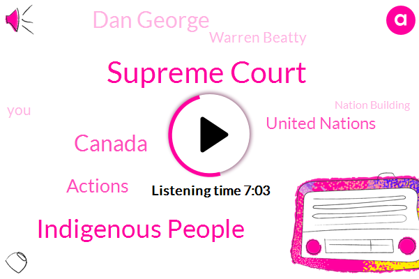 Supreme Court,Indigenous People,Canada,Actions,United Nations,Dan George,Warren Beatty,Nation Building,UN,Tori,Totten,BC,Ottawa,Vancouver,North End,Chief Counsel,Stoughton,Indian Act Band Council,Burns Lake,Dell