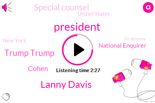 President Trump,Lanny Davis,Trump Trump,Cohen,National Enquirer,Special Counsel,United States,New York,Us Attorney