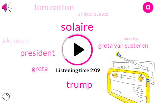 Solaire,Donald Trump,Greta,Greta Van Susteren,President Trump,Tom Cotton,United States,Jake Tapper,America,Greta I,Chairman,KIM