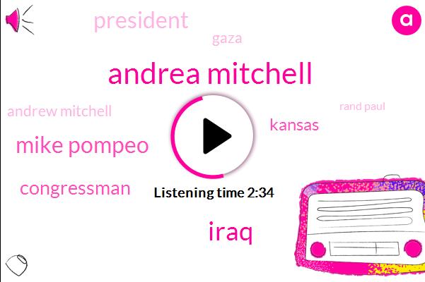 Andrea Mitchell,Iraq,Mike Pompeo,Congressman,Kansas,President Trump,Gaza,Andrew Mitchell,Rand Paul,Official,Afghanistan,Nato,Israel,Jared Kushner,Donald Trump