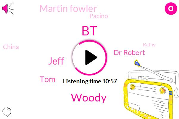 BT,Woody,Jeff,TOM,Dr Robert,Martin Fowler,Pacino,China,Kathy,North America,Bikini,Wood,Barry,Newsradio Klbj,JON,Brown,Peqiin Tree,Ellen,Mount Laurel