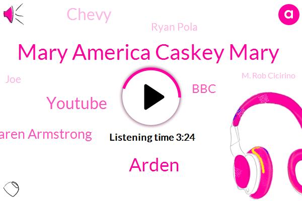 Mary America Caskey Mary,Arden,Youtube,Karen Armstrong,BBC,Chevy,Ryan Pola,JOE,M. Rob Cicirino,Qaysar,Kelly,Fraud,Jon Allen.,RJ,FAN,Nigel,Kevin