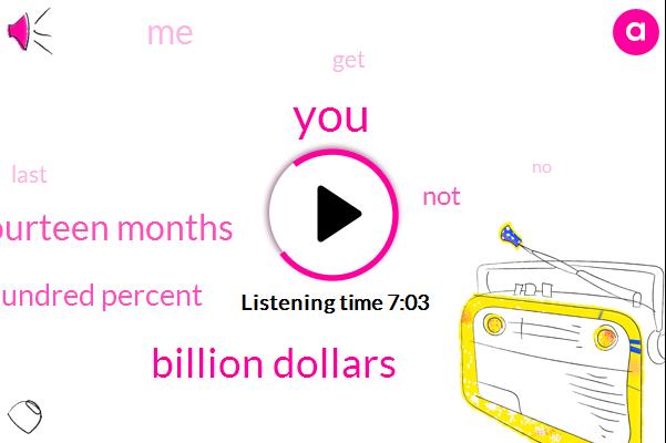 Billion Dollars,Fourteen Months,Hundred Percent