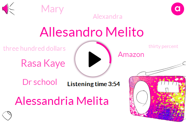 Allesandro Melito,Alessandria Melita,Rasa Kaye,Dr School,Amazon,Mary,Alexandra,Three Hundred Dollars,Thirty Percent