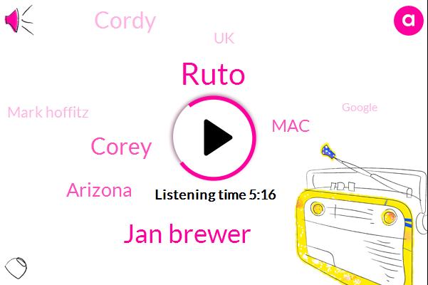 Ruto,Jan Brewer,Corey,Arizona,MAC,Ktar,Cordy,UK,Mark Hoffitz,Google,Texas,Metallica,TOM,Jeff,Thousand Dollars