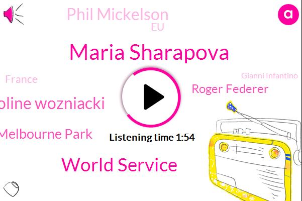 Maria Sharapova,World Service,Caroline Wozniacki,Melbourne Park,Roger Federer,Phil Mickelson,EU,France,Gianni Infantino,Melbourne,Frantisek,Sudan,Britain,Allen,Washington,Official,Qatar,Taylor
