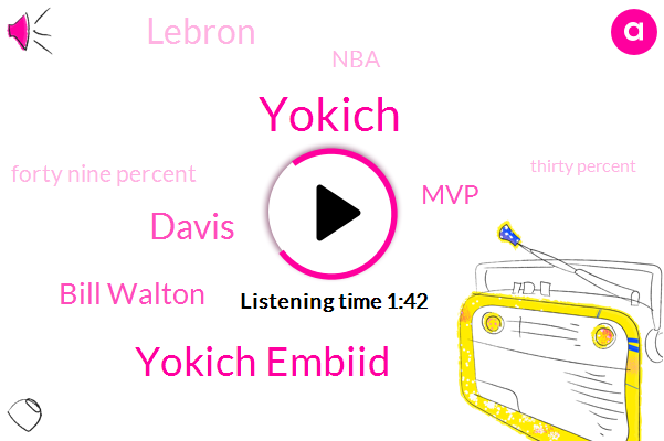 Yokich Embiid,Davis,Bill Walton,Yokich,MVP,Lebron,NBA,Forty Nine Percent,Thirty Percent,Fifty Percent