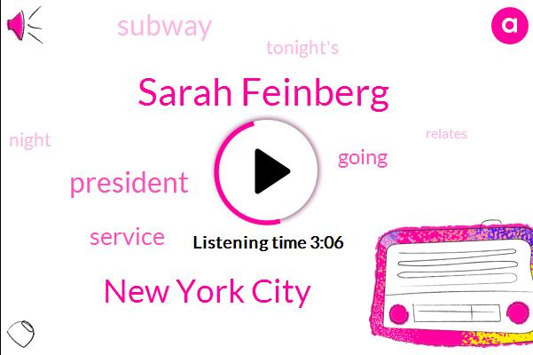 Sarah Feinberg,New York City,President Trump