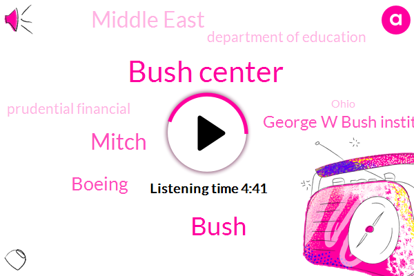 Bush Center,Mitch,Boeing,George W Bush Institute,Bush,Middle East,Department Of Education,Prudential Financial,Ohio,Afghanistan,North Africa,Anna Marie,Executive,Greg,Five Years