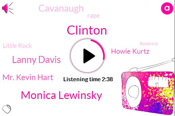 Clinton,Monica Lewinsky,Lanny Davis,Mr. Kevin Hart,Howie Kurtz,Cavanaugh,Rape,Little Rock,Roderick,Twenty Years