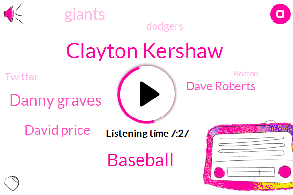 Clayton Kershaw,Baseball,Danny Graves,David Price,Dave Roberts,Giants,Dodgers,Twitter,Boston,Jeff Schwartz,Dodger Stadium,Red Sox,Bear Jones,Pierce Jd,Espn,Kershaw,Bradford,Los Angeles