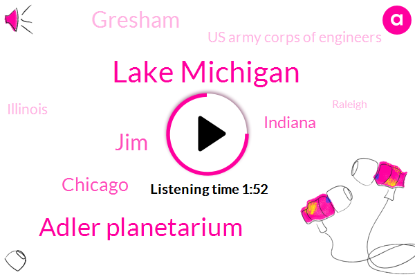 Lake Michigan,Adler Planetarium,JIM,Chicago,Indiana,Gresham,Us Army Corps Of Engineers,Illinois,Raleigh,Twenty Minute,Four Feet