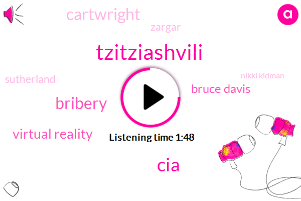 Tzitziashvili,CIA,Bribery,Virtual Reality,Bruce Davis,Cartwright,Zargar,Sutherland,Nikki Kidman,Miller,Harry Hamlin,Shaq,Donald Trump,Eight Hours,Five Days,Two Years