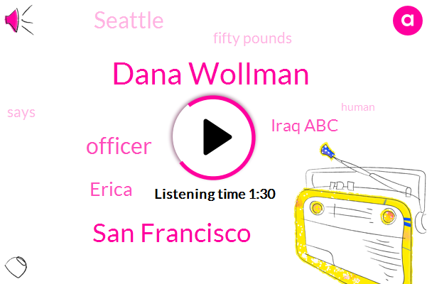 Dana Wollman,San Francisco,Officer,Erica,Iraq Abc,Seattle,Fifty Pounds