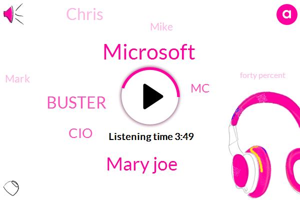 Microsoft,Mary Joe,Buster,CIO,MC,Chris,Mike,Mark,Forty Percent,Two Years