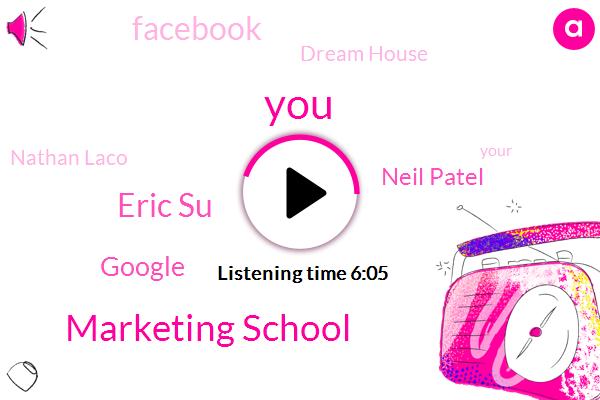 Marketing School,Eric Su,Google,Neil Patel,Facebook,Dream House,Nathan Laco,Margie School,Walmart,Russell Brunson,Hillary,Toro,Chet Holmes,Kohl,S. P. A. R. K. T. O. R. O.,Larry