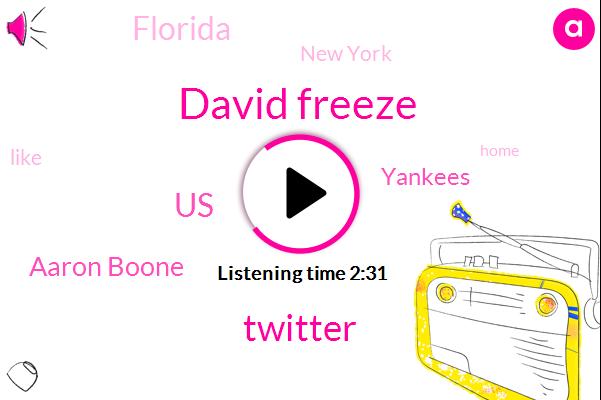 David Freeze,Twitter,United States,Aaron Boone,Baseball,Yankees,Florida,New York