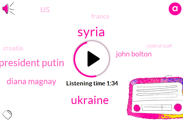 Syria,Ukraine,President Putin,Diana Magnay,John Bolton,ABC,United States,France,Croatia,Chief Of Staff,White House,President Trump,Utah,Twenty Years