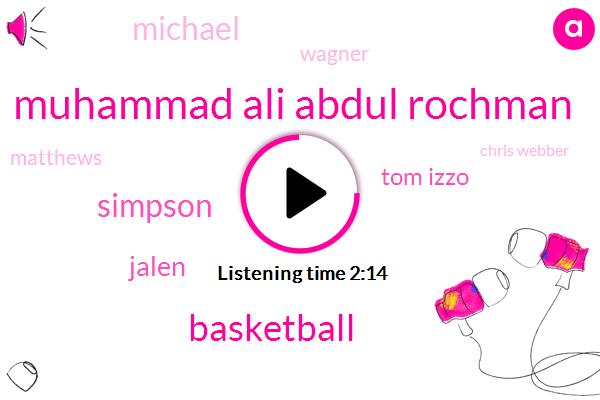 Muhammad Ali Abdul Rochman,Basketball,Simpson,Jalen,Tom Izzo,Michael,Wagner,Matthews,Chris Webber,Michigan,Football,Three One Dollars,Four Years