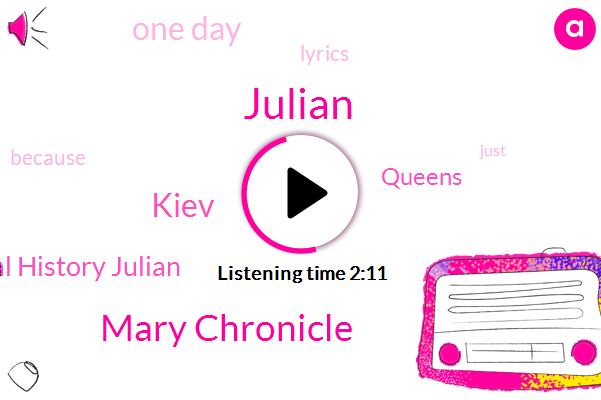 Julian,Mary Chronicle,Kiev,Russian Medieval History Julian,Queens,One Day