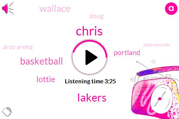 Lakers,Chris,Basketball,Lottie,Portland,Wallace,Doug,Arco Arena,Sixty One Min,One Day