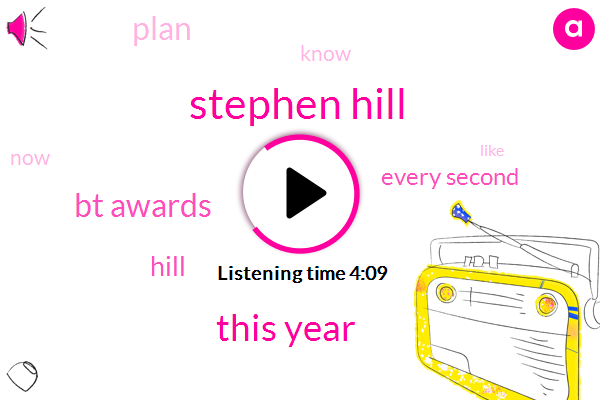 Stephen Hill,This Year,Bt Awards,Hill,Every Second,Plan