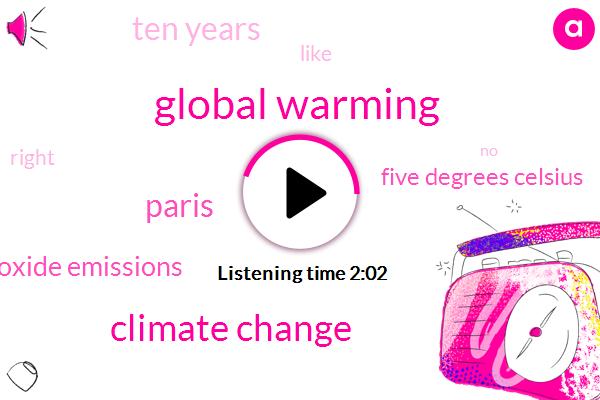 Global Warming,Climate Change,Paris,Carbon Dioxide Emissions,Five Degrees Celsius,Ten Years