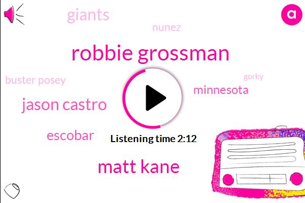 Robbie Grossman,Matt Kane,Jason Castro,Escobar,Minnesota,Giants,Nunez,Buster Posey,Asia,Gorky,Ann Grossman,WTO