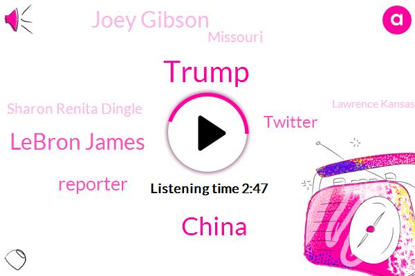 Donald Trump,China,Lebron James,Reporter,Twitter,Joey Gibson,Missouri,Sharon Renita Dingle,Lawrence Kansas,Kansas,Portland Police Bureau,First Degree Murder,Iran,Ohio,Murder,President Trump,Columbia,NRA,AR
