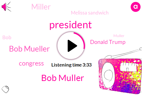 Bob Muller,Bob Mueller,President Trump,Congress,Donald Trump,Miller,Melissa Sandwich,BOB,Muller,Rob Reiner,DON,Rod Rosenstein,Reporter,Deputy Attorney General,Mullah,United States,Gene Robinson,Robert Deniro,Mr. Moore,Director