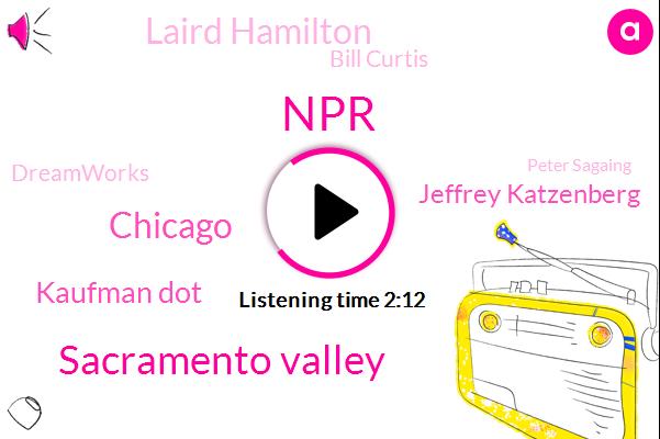 NPR,Sacramento Valley,Chicago,Kaufman Dot,Jeffrey Katzenberg,Laird Hamilton,Bill Curtis,Dreamworks,Peter Sagaing,Seventy Three Seconds,Eighty Eight Degrees,0 Stones