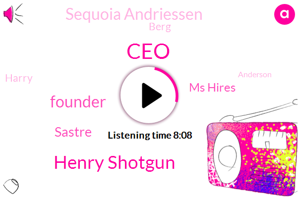 Henry Shotgun,CEO,Founder,Sastre,Ms Hires,Sequoia Andriessen,Berg,Harry,Anderson