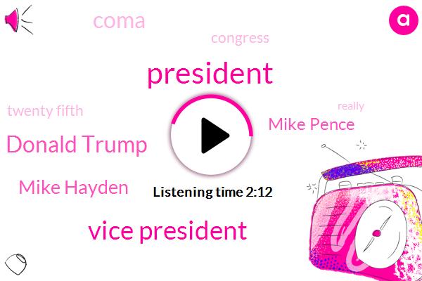 President Trump,Vice President,Donald Trump,Mike Hayden,Mike Pence,Coma,Congress,Twenty Fifth