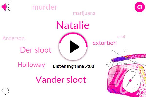 Vander Sloot,Natalie,Der Sloot,Holloway,Extortion,Murder,Marijuana,Anderson.